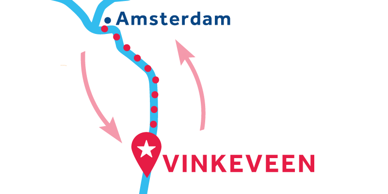 Vinkeveen RETURN via Amsterdam & Muiden