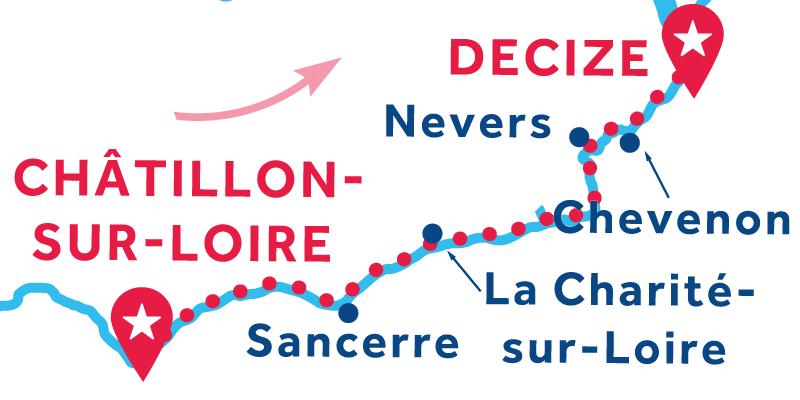 Châtillon-sur-Loire to Decize via Nevers ONEWAY