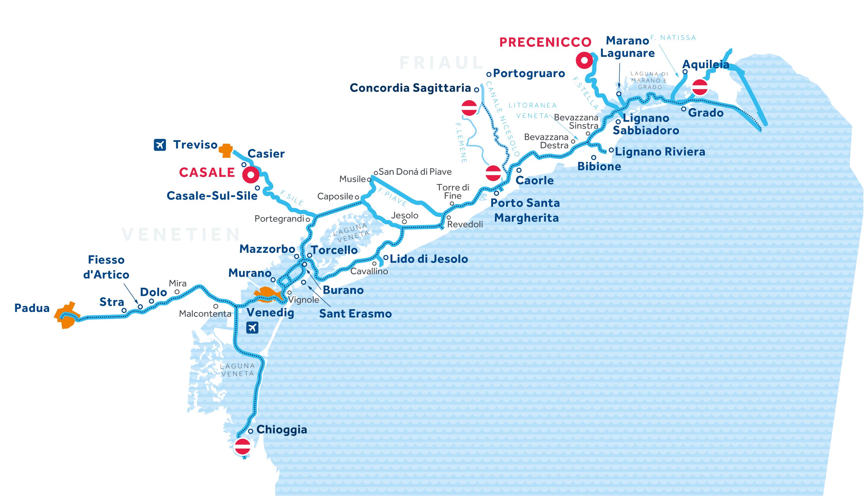 Karte: Venetien und Friaul