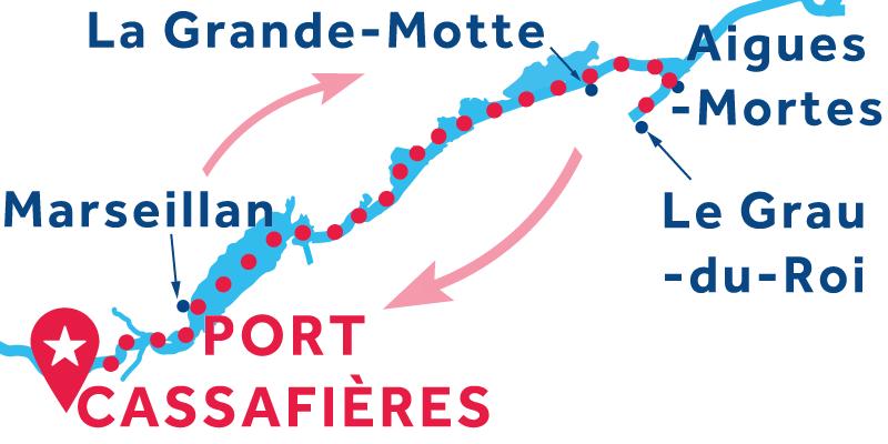 Port Cassafières RETURN via Aigues-Mortes