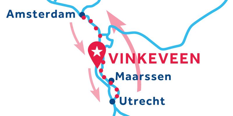 Vinkeveen RETURN via Amsterdam & Utrecht