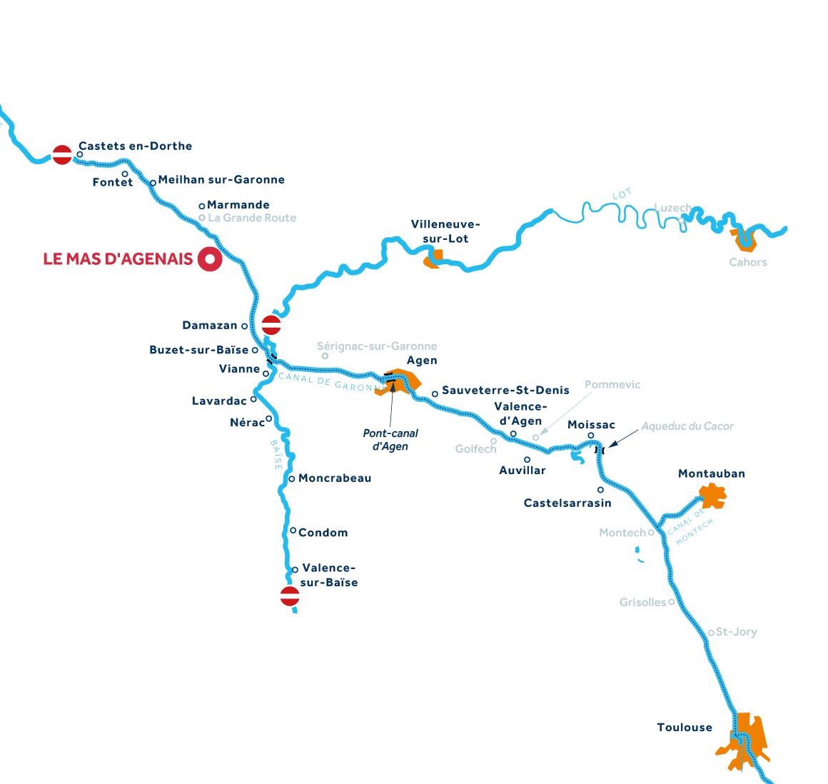 Karte: Aquitanien