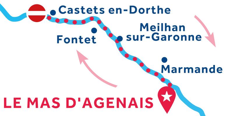 Le Mas-d'Agenais RETURN via Buzet-sur-Baïse