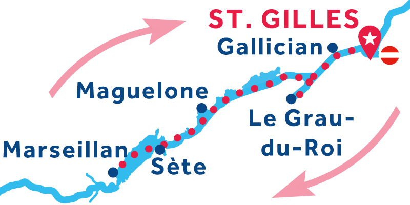 Saint-Gilles RETURN via Étang de Thau