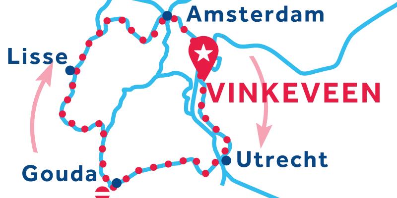 Vinkeveen RETURN via Utrecht, Lisse & Amsterdam