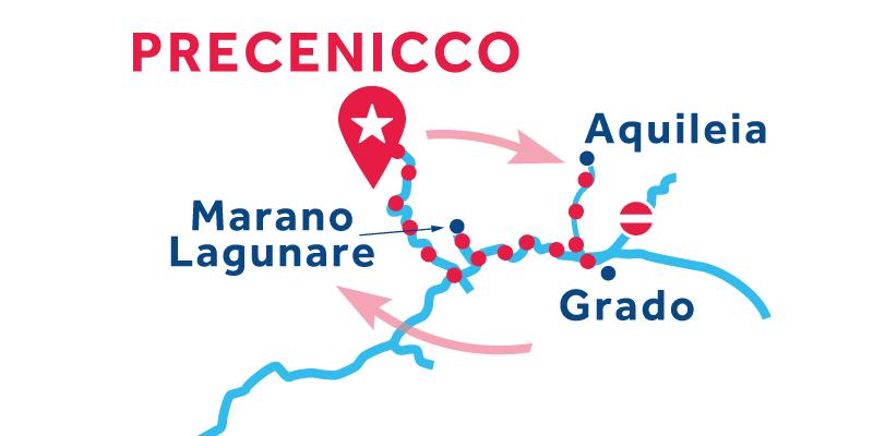 Precenicco RETURN via Marano Lagunare & Lignano Riveria