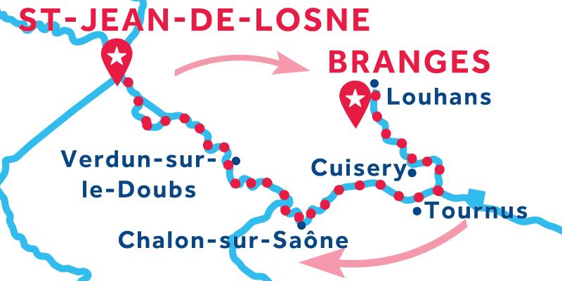 Saint-Jean-de-Losne RETURN via Louhans
