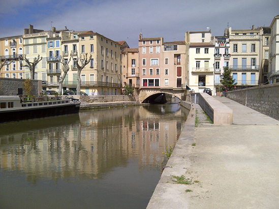 Mit dem Fahrrad in Narbonne