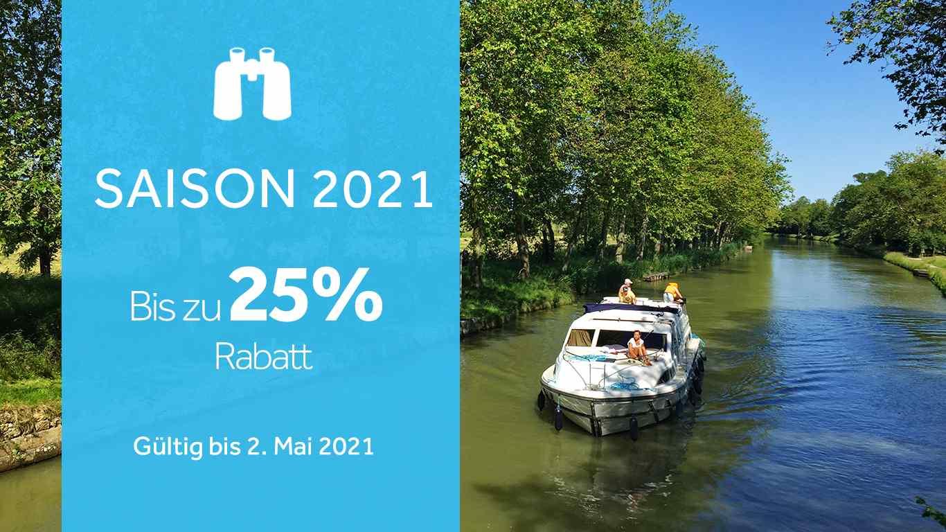 Hausbootferien 2021 - Jetzt bis zu 25 Prozent sparen
