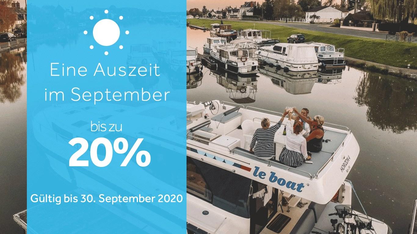 Bis zu 20% Rabatt auf Abfahrten im September
