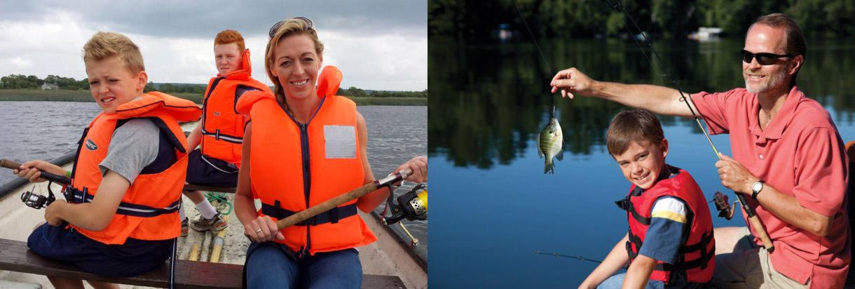 Im Beiboot auf Fischfang gehen