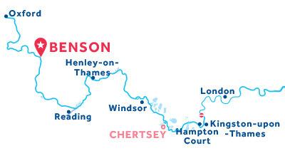 Karte zur Lage der Basis Benson