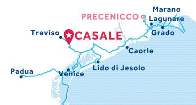 Karte zur Lage der Basis Casale
