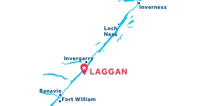 Karte zur Lage der Basis Laggan