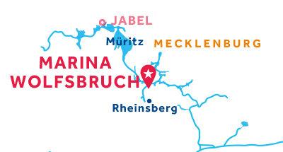 Karte zur Lage der Basis Marina Wolfsbruch
