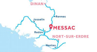 Karte zur Lage der Basis Messac