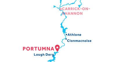 Karte zur Lage der Basis Portumna