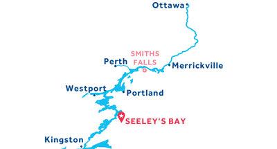 Karte zur Lage der Basis Seeley's Bay