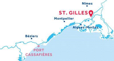 Karte zur Lage der Basis St. Gilles