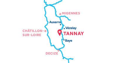 Karte zur Lage der Basis Tannay