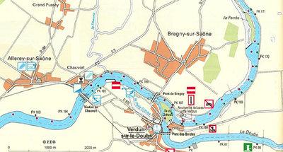 Gewässerkarte Burgund