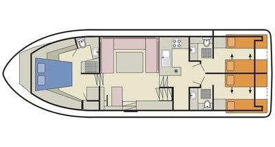 Deckplan der Royal Classique
