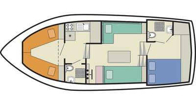Deckplan der Tamaris
