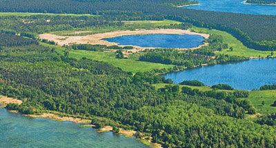 Luftaufnahme der deutschen Seen