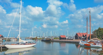 Boote auf einem niederländischen See