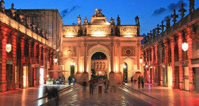 Platz Stanislas bei Nacht, Nancy