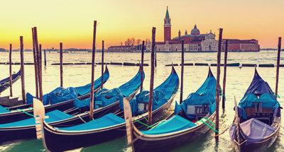 Gondeln in Venedig, Italien