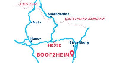 Karte zur Lage der Basis Boofzheim