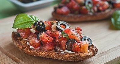 Tomate-Pilz Bruschetta