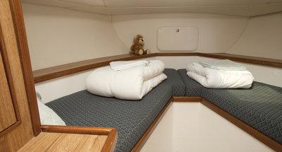 Bugkabine des Hausbootes Countess von Le Boat