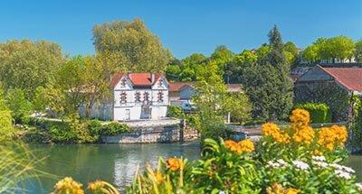 Fluss Charente nahe Cognac