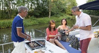 Sonnendeck des Hausbootes Vision von Le Boat