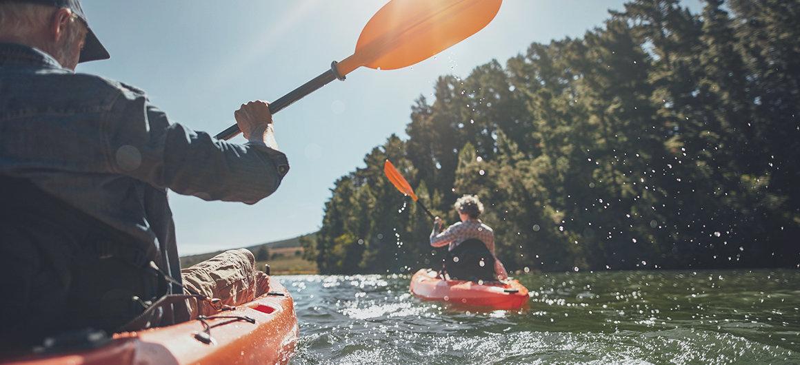 Kanu fahren auf den kanadischen Seen