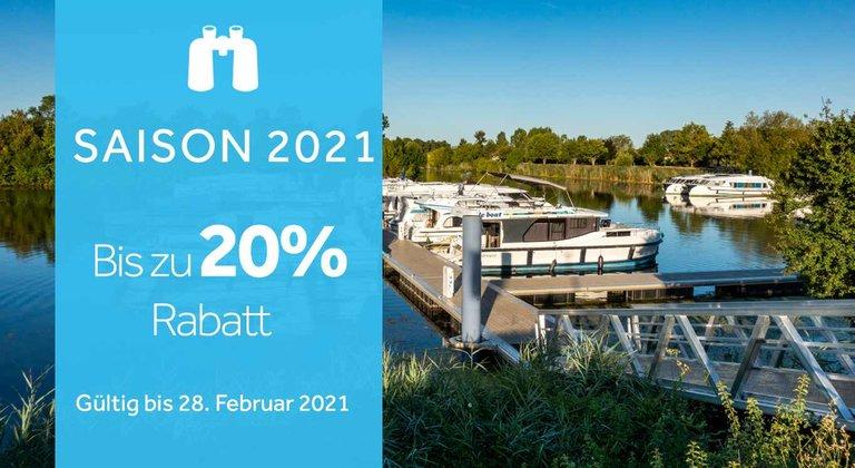 Bis zu 20% Rabatt auf Ihre Ferien 2021