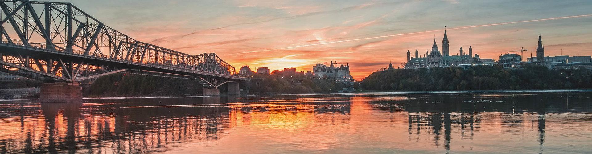Sonnenuntergang in Ottawa Kanada