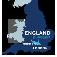 Karte zeigt, wo die Themse in England liegt