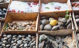Meeresfrüchte in Rochefort