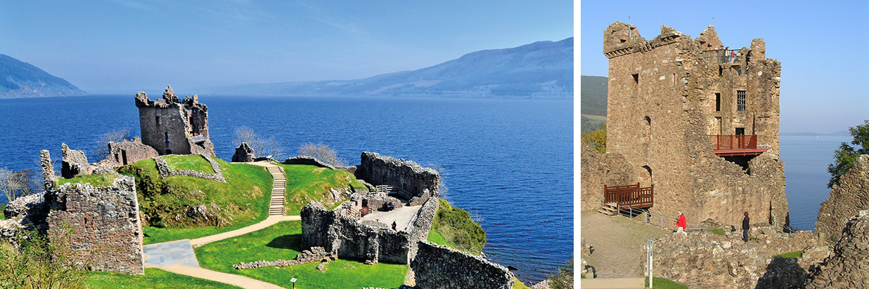Die Ruine der geschichtsträchtigen Burg Urquhart Castle